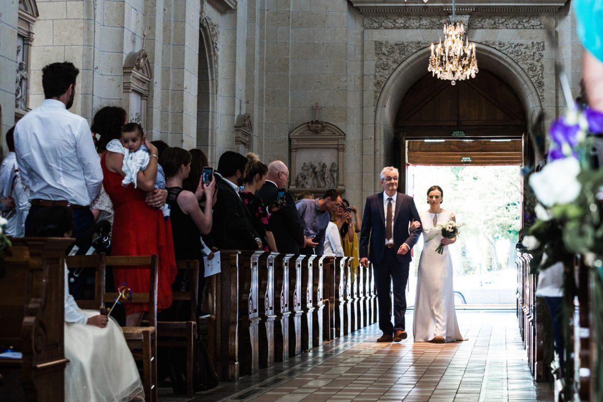 Entrée de le mariée abbaye St Florent le Vieil