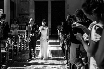 Entrée de la mariée avec son papa
