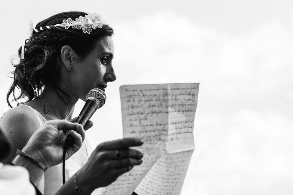 Discours de la mariée