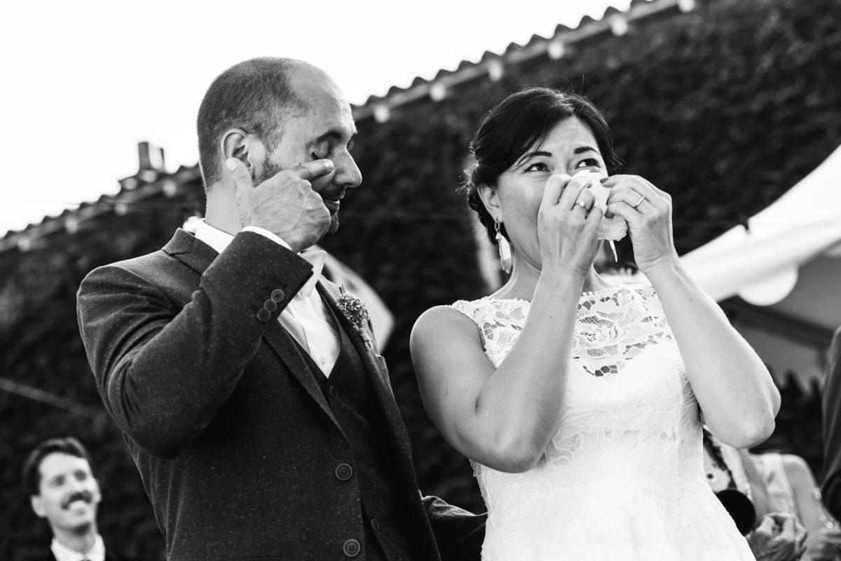 Cocktail de mariage, pleurs
